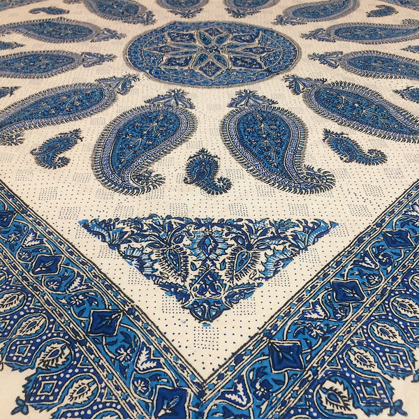 Blue Isfahan Cretonne Throw/ Tablecloth
