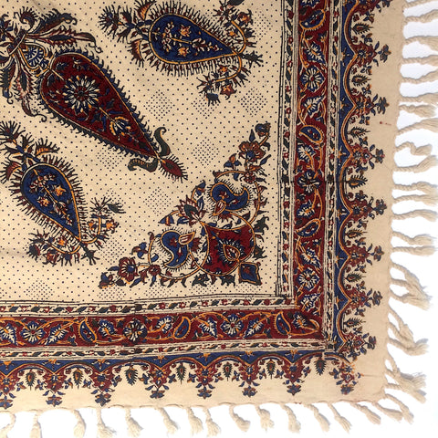 Isfahan Cretonne Throw/ Tablecloth XII