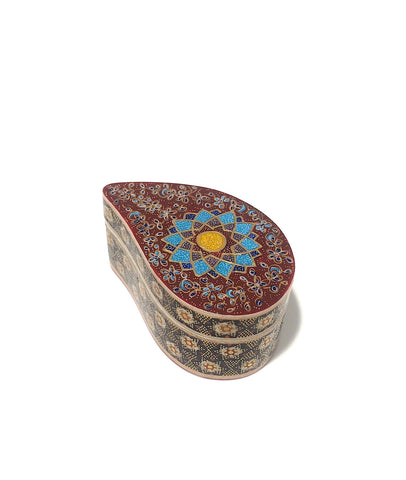 Paisely Khatam/Marquetry Jewelry/Gift Box