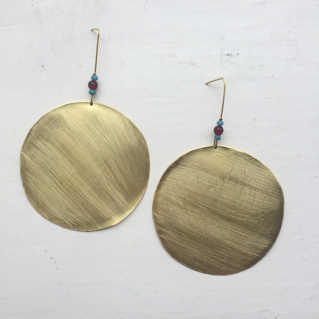 The Circle Brass Earrings
