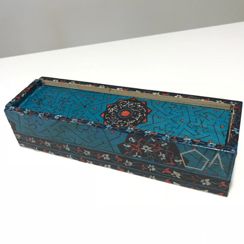 Blue Wooden Pencil Case