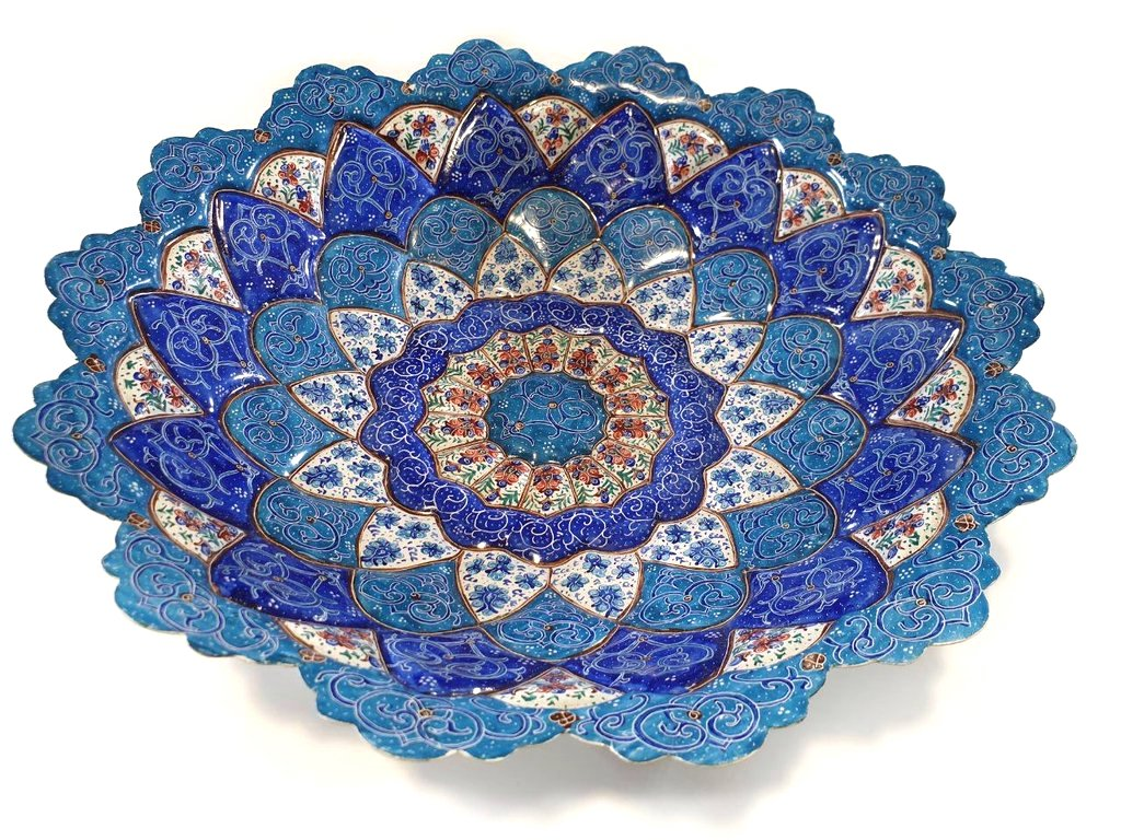 Mina Copper Enamel Bowl