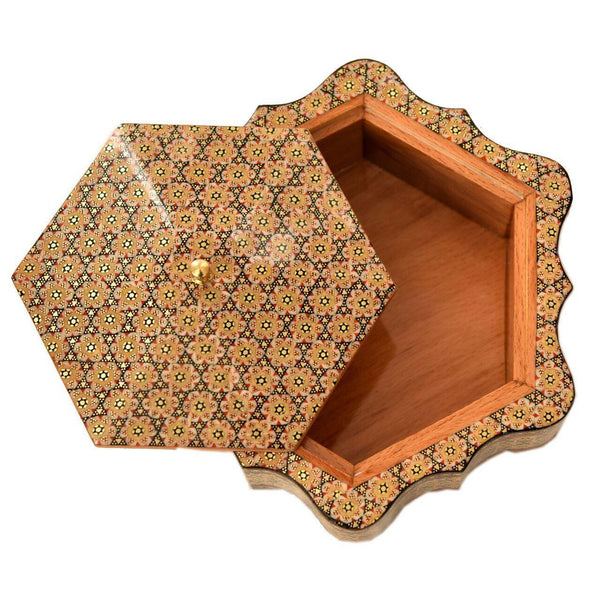 Borders Matters with Three Different Sizes Khatam / Marquetry Box