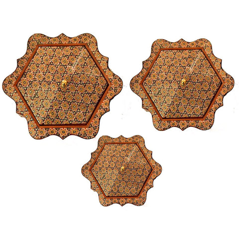 Borders Matters with Three Different Sizes Khatam/Marquetry Box