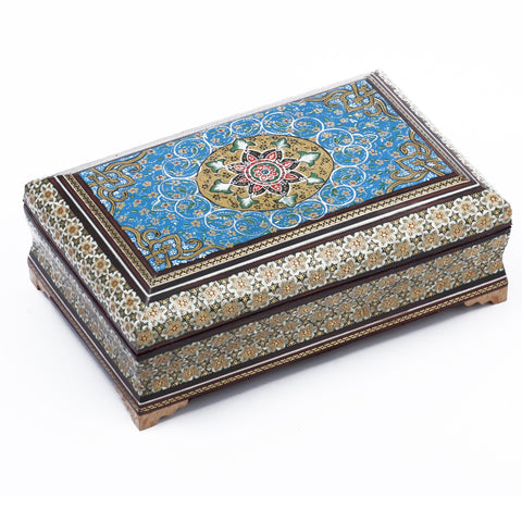 Khatam/Marquetry Box with Inside Velvet Touch