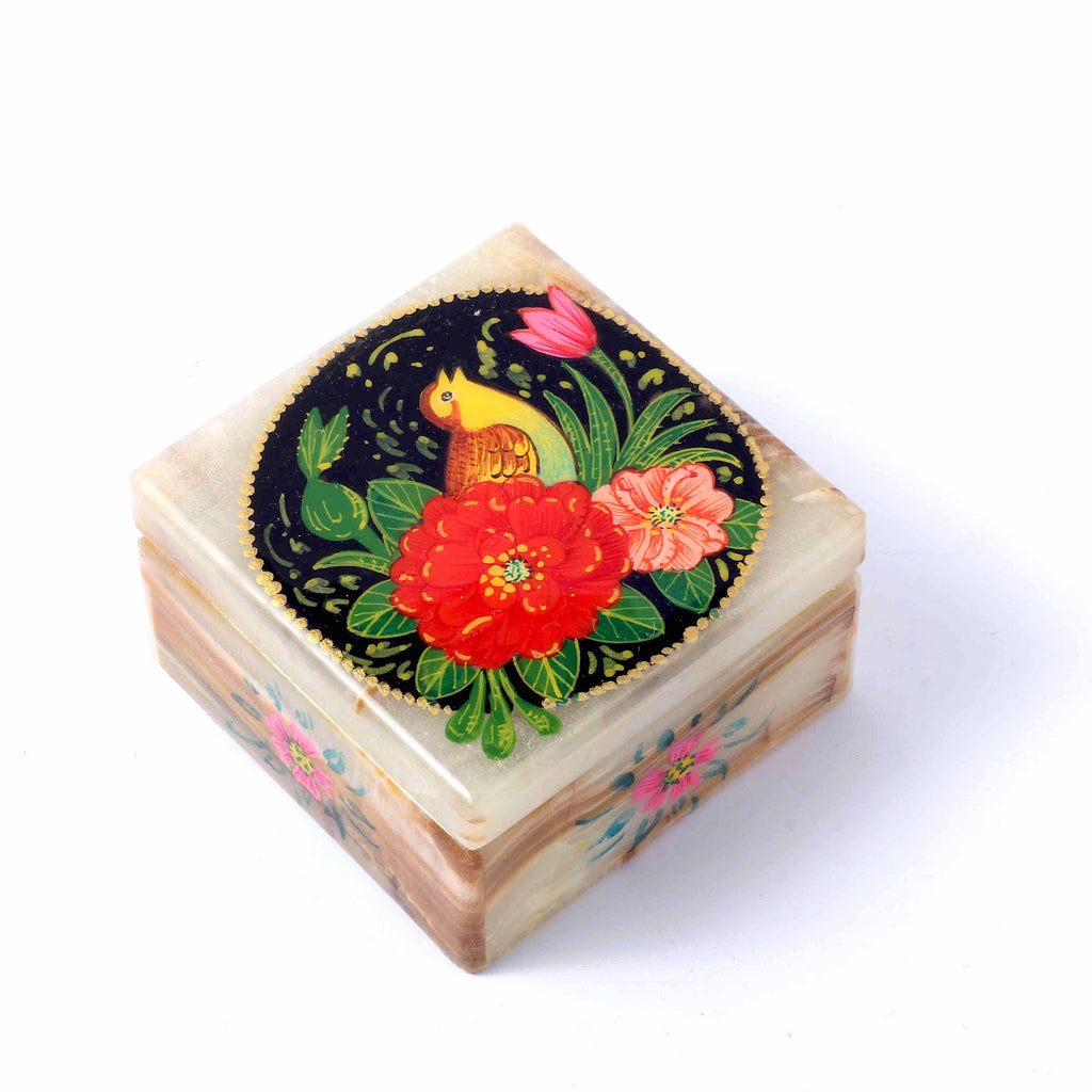 Singing Bird Marble Box
