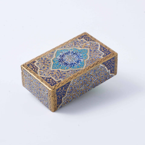Blue Tazhib Marble Box