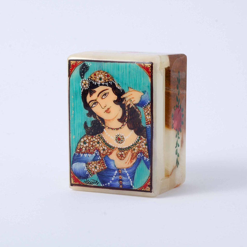 Qajar Lady Marble Box