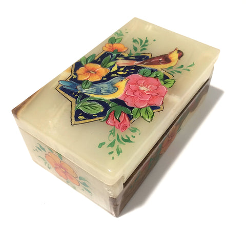 Flower & Bird Marble Box