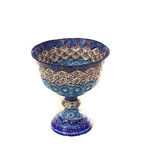 Fine Art Copper Mina/Enamel Serving Bowl
