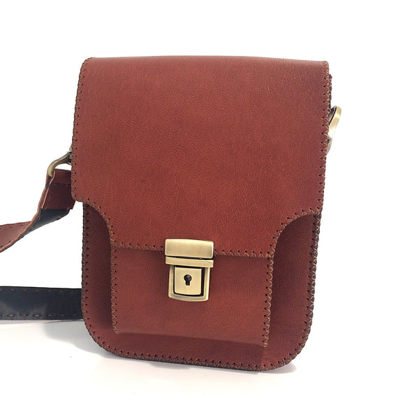 Goat Leather Unisex Crossbody Bag