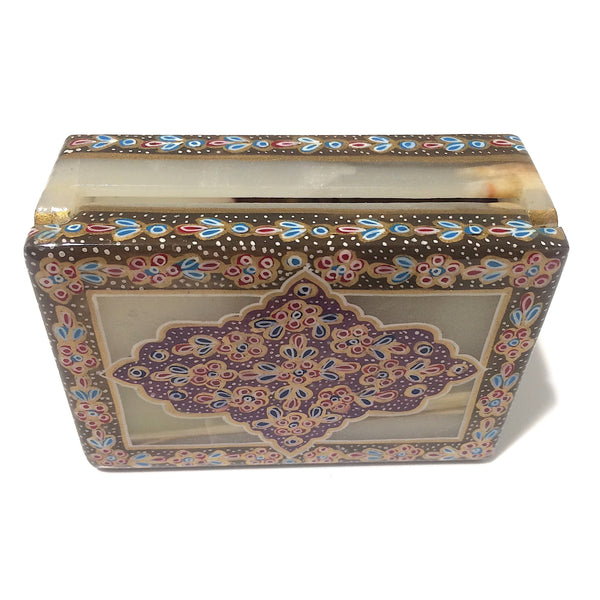 Tazhib Marble Box With Caramel Edges