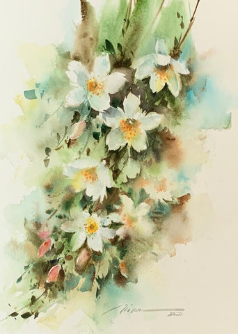 The Glory of Jasmine - Watercolour Online Live Workshop