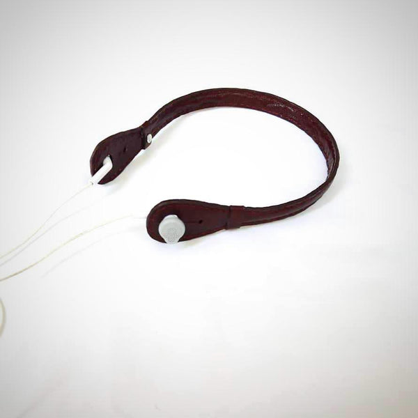Goat Leather Burgundy Brownish Headphone Holder