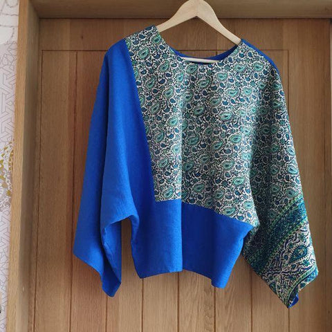 Ghalamkar Blue Top