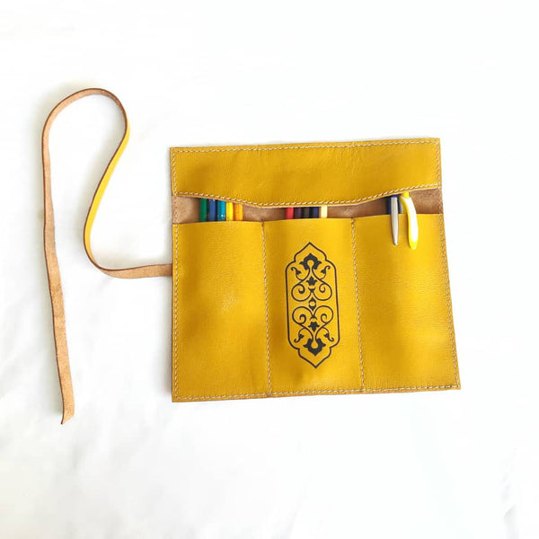Caramel Handmade Leather Pouch