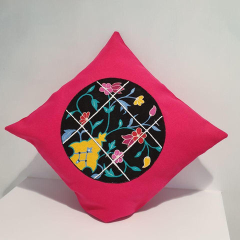 Iranian Tile in Pink Cushion
