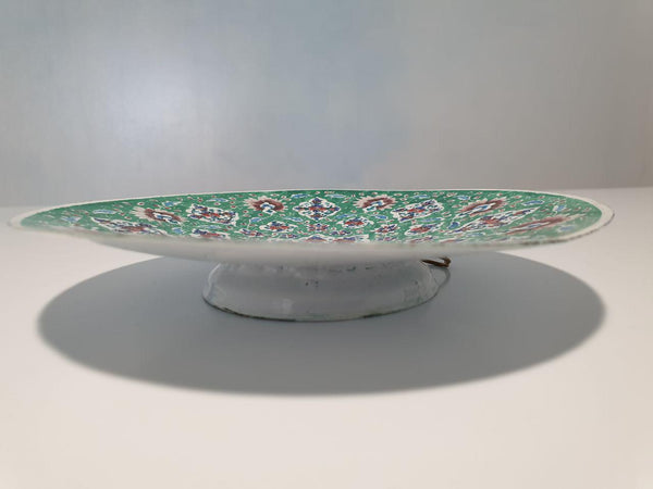 Fine Art Mina Copper Enamel Plate with Islimi/eslimi Patterns