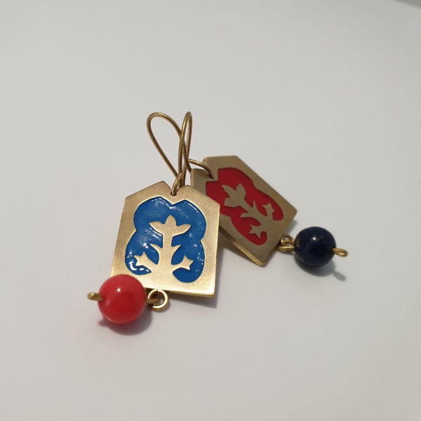 Life's Tree Brass Earrings