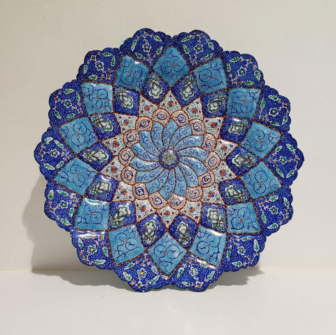 Fine Art Mina Embossed Copper Enamel Plate