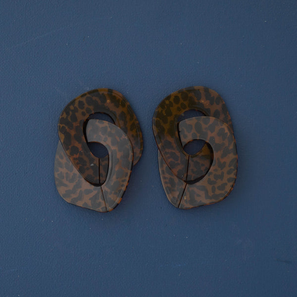 Bold Acrylic Earrings in Animal Print - emme