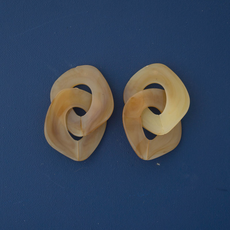 Bold Acrylic Earrings in Yellow - emme