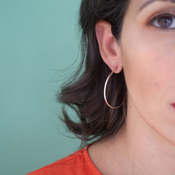 Lola Silver Hoop Earrings - emme