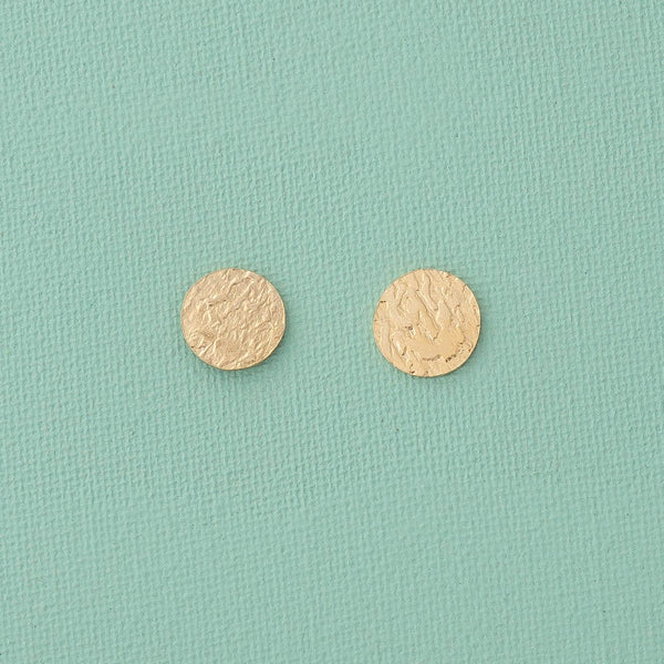 Mini Dot Stud Earrings in Gold - emme