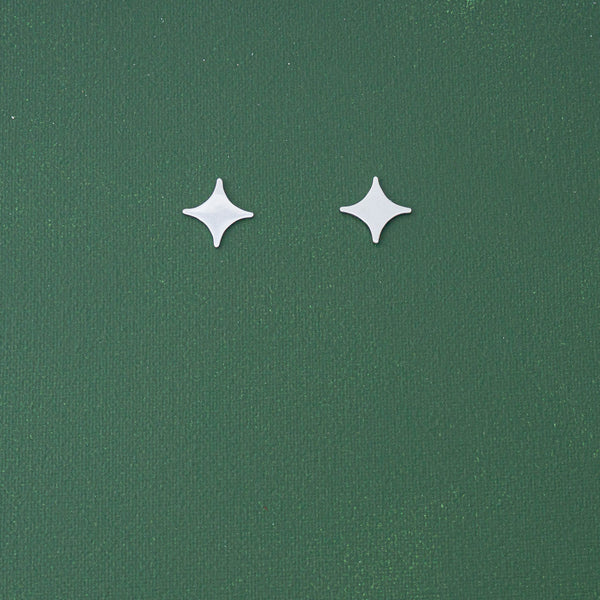 Mini Star Stud Earrings in Silver - emme