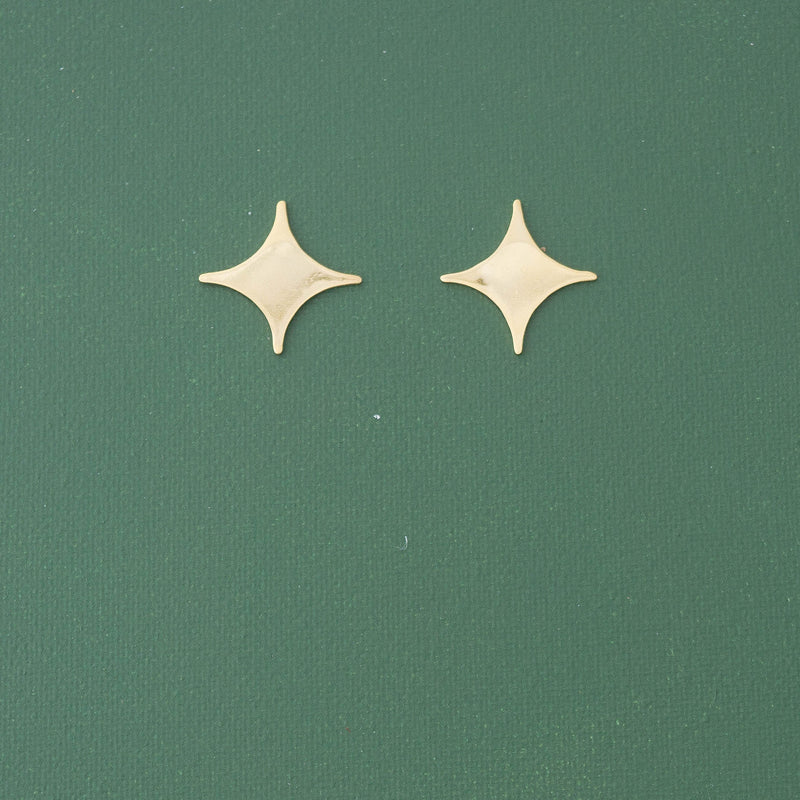 Star Gold Earrings - emme