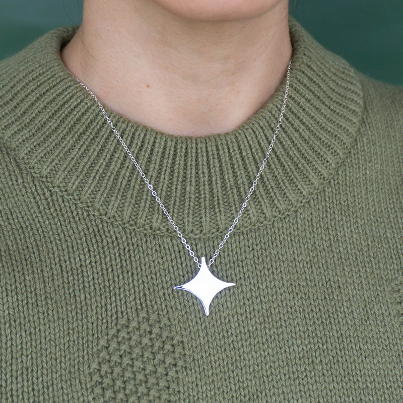 Star Silver Necklace - emme