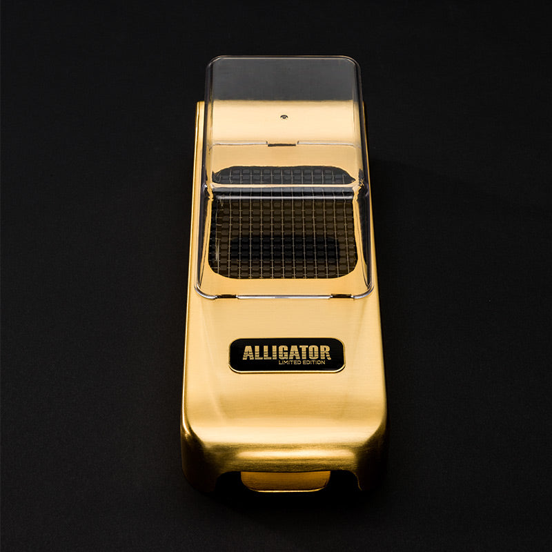 "001-9 3093AU Alligator Chopper 24K Gold (30th Anniversary) <br>3x3, 6x6 & 12x12 mm (1/8"", 1/4"" & 1/2"") - Alligator of Sweden 
