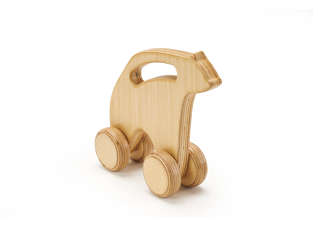 Polar Bear Baby Wheels Natural