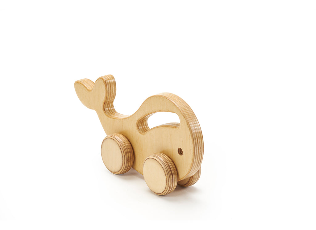 Whale Baby Wheels Natural