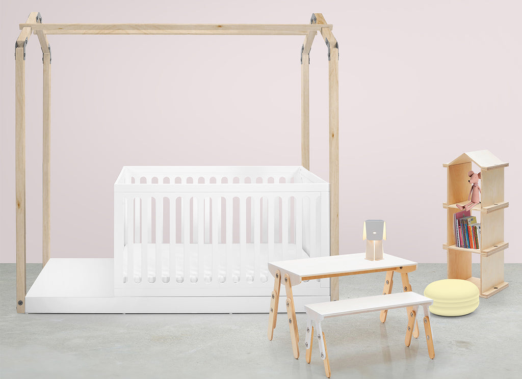 Casa E Crib & Natural Fox Drawers