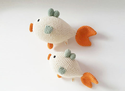 Organic Crochet Fish Rattle
