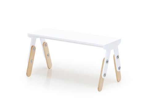Milky Bench White Lacquered