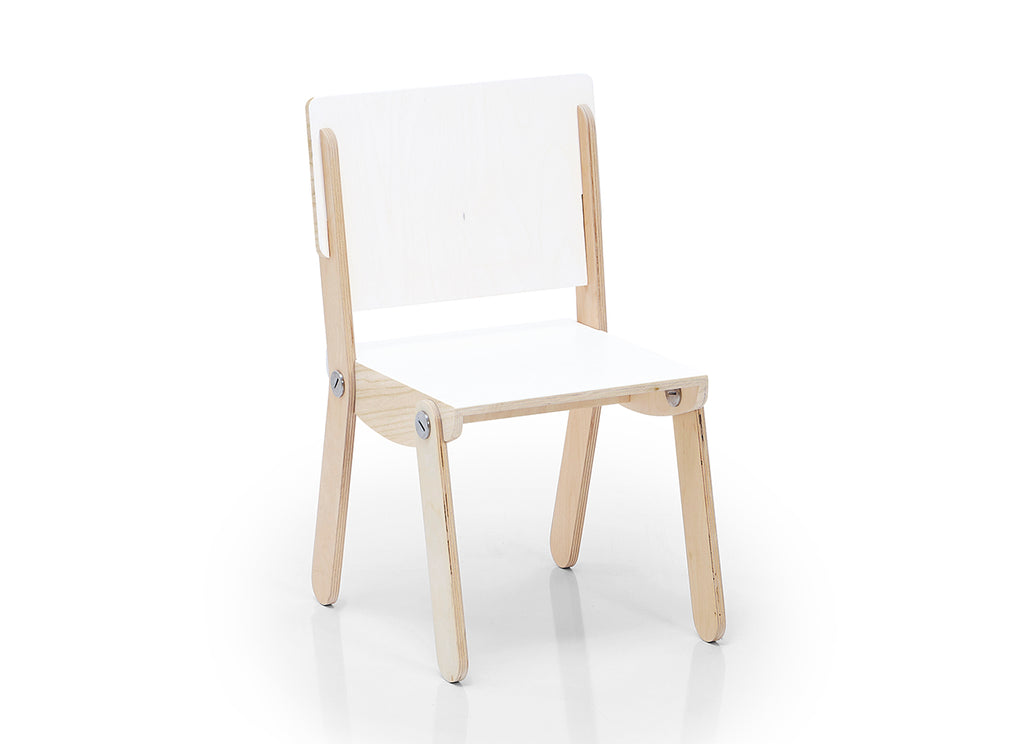 Milky Chair M White Laminated