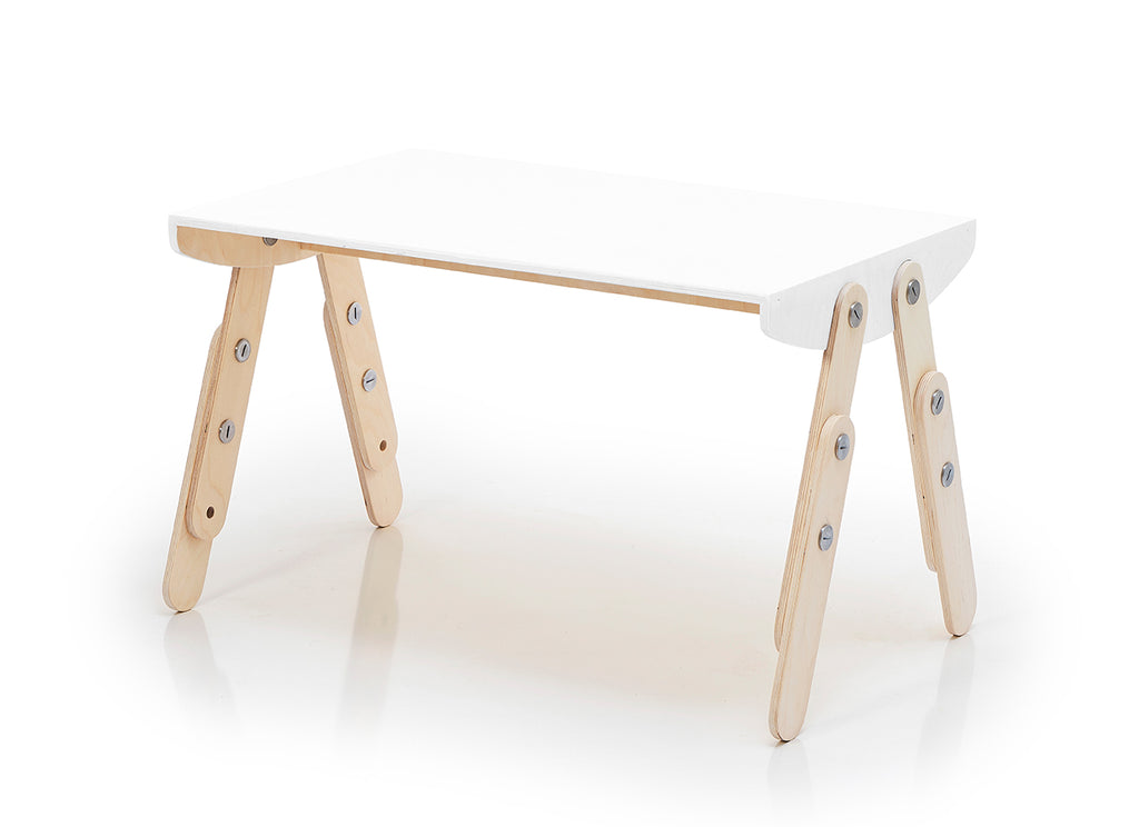 Milky Desk White Lacquered