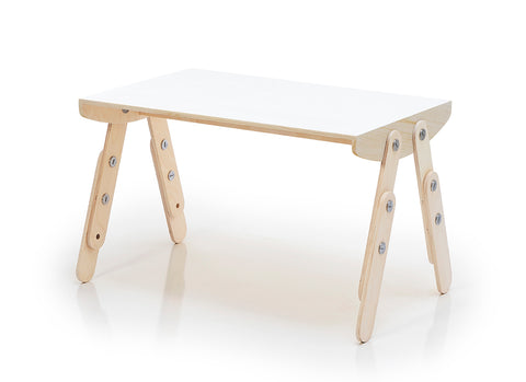 Milky Desk White Laminated