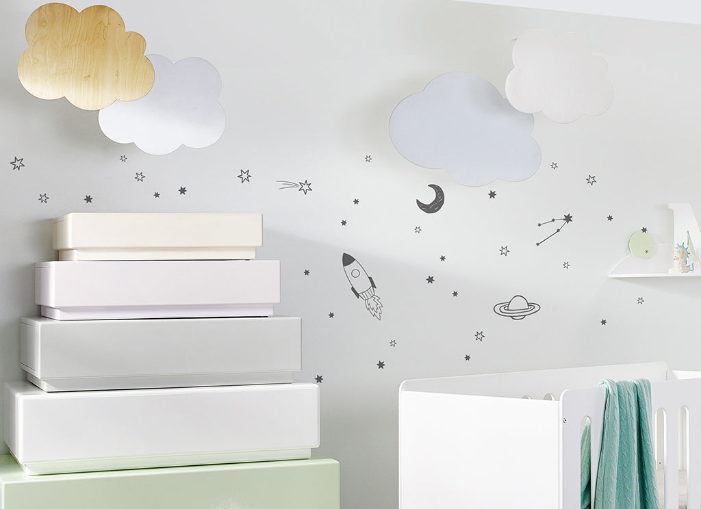 Dark Grey Outer Space Wall Sticker