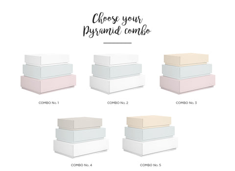 Pyramid Set of 3 Boxes (No. 4 + 5 + 6)