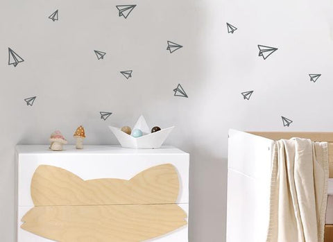 Origami Planes Wall Sticker