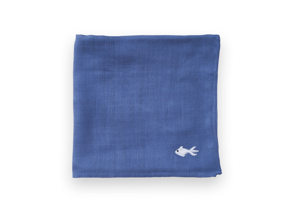 Dreamland Jeans Swaddle - Vapor Blue Embroidery