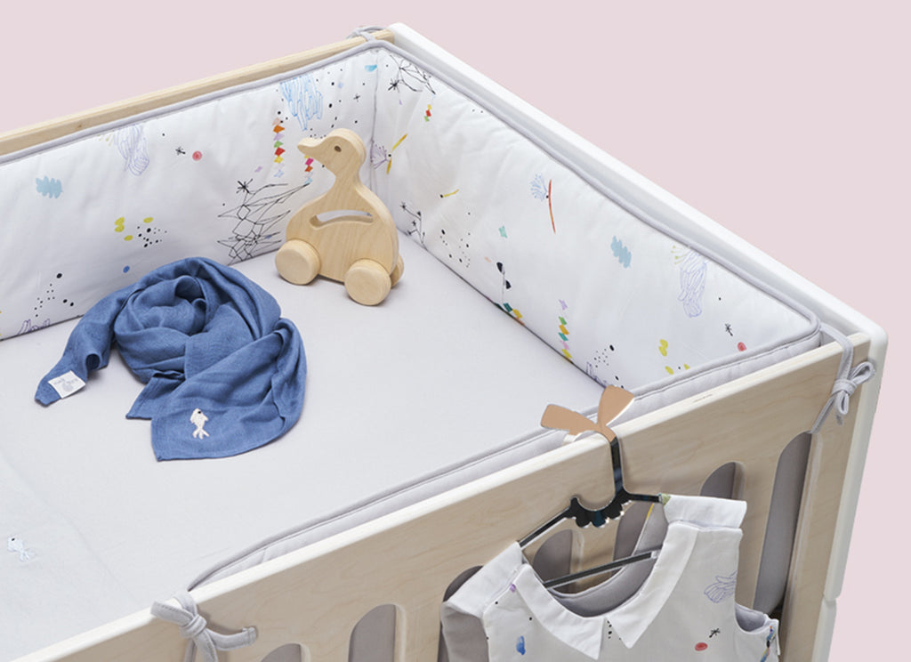 Dreamland Jeans Swaddle - Almost Mauve Embroidery