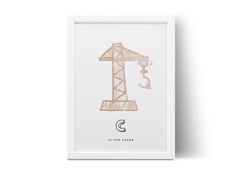 C is for Crane Poster