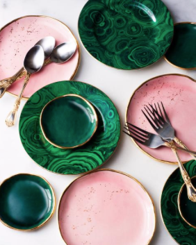 Pink and green ceramics from Suite One Studio A Leap of Style Gift Guide