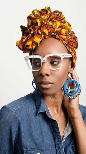 Ankara Head Wrap Flame -  - 1