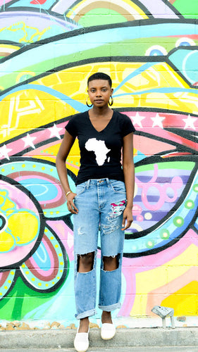 For the Continent Africa T-shirt Women's V-neck