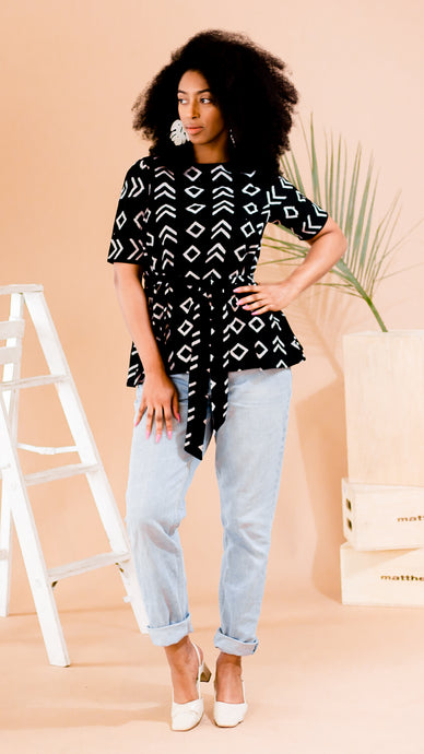 Block print top A Leap of Style